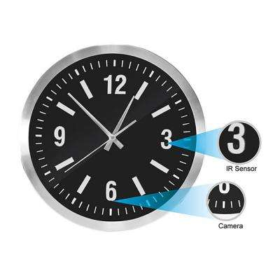Wall Clock with Hidden Built-in Covert Camera