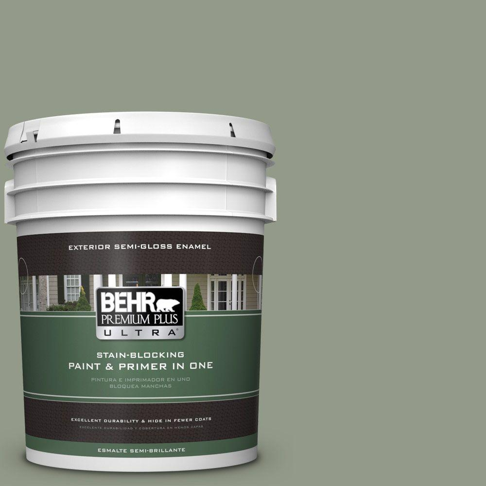 BEHR Premium Plus Ultra 5-gal. #430F-4 False Cypress Semi-Gloss Enamel Exterior Paint