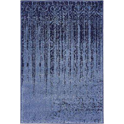 Vintage Del Mar Rain Blue 2 Ft X 3 Rug