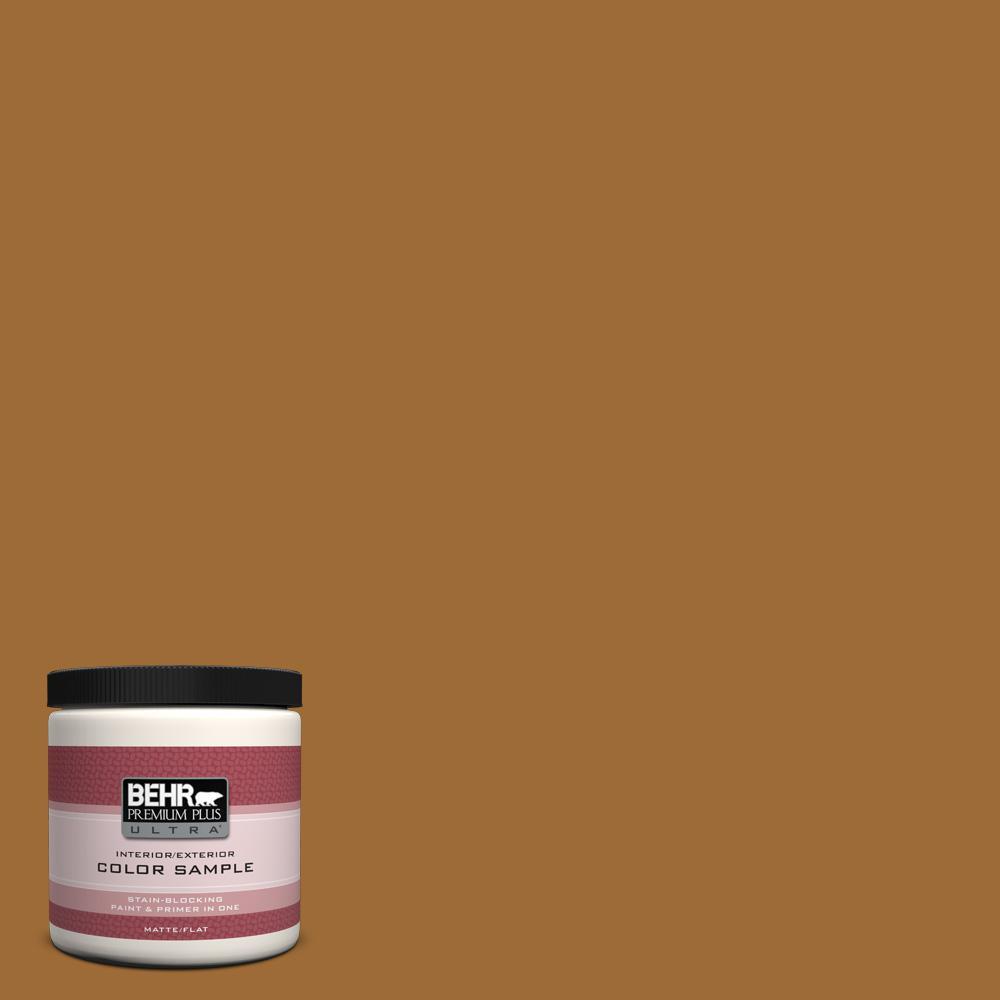 BEHR Premium Plus Ultra 8 oz. #PPU6-1 Curry Powder Interior/Exterior Paint Sample