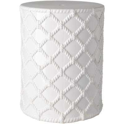 Acku Garden Stool in White