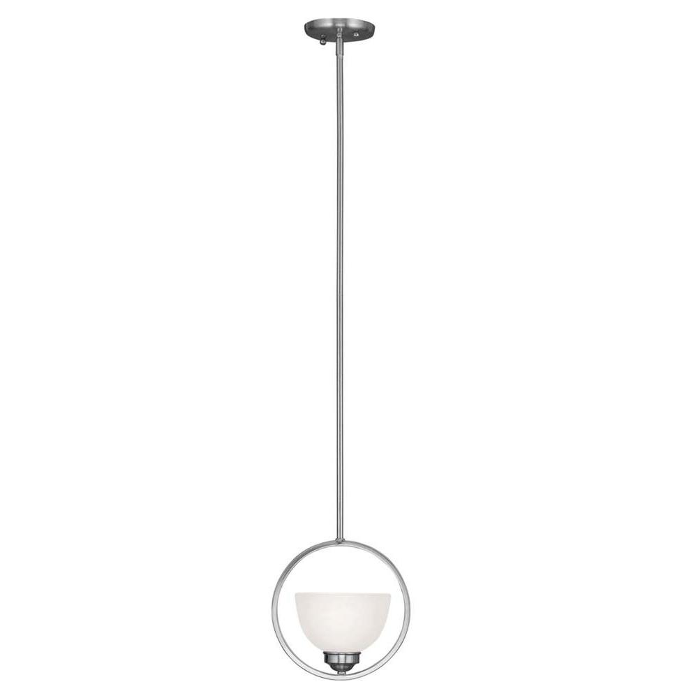 Livex Lighting Providence 1-Light Brushed Nickel Incandescent Ceiling Mini Pendant