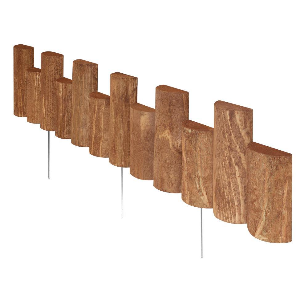 Vigoro Vigoro 3 ft. Wooden Half-Log Edging, Brown