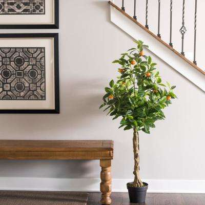 51 in. Real Touch Orange Tree with Pot