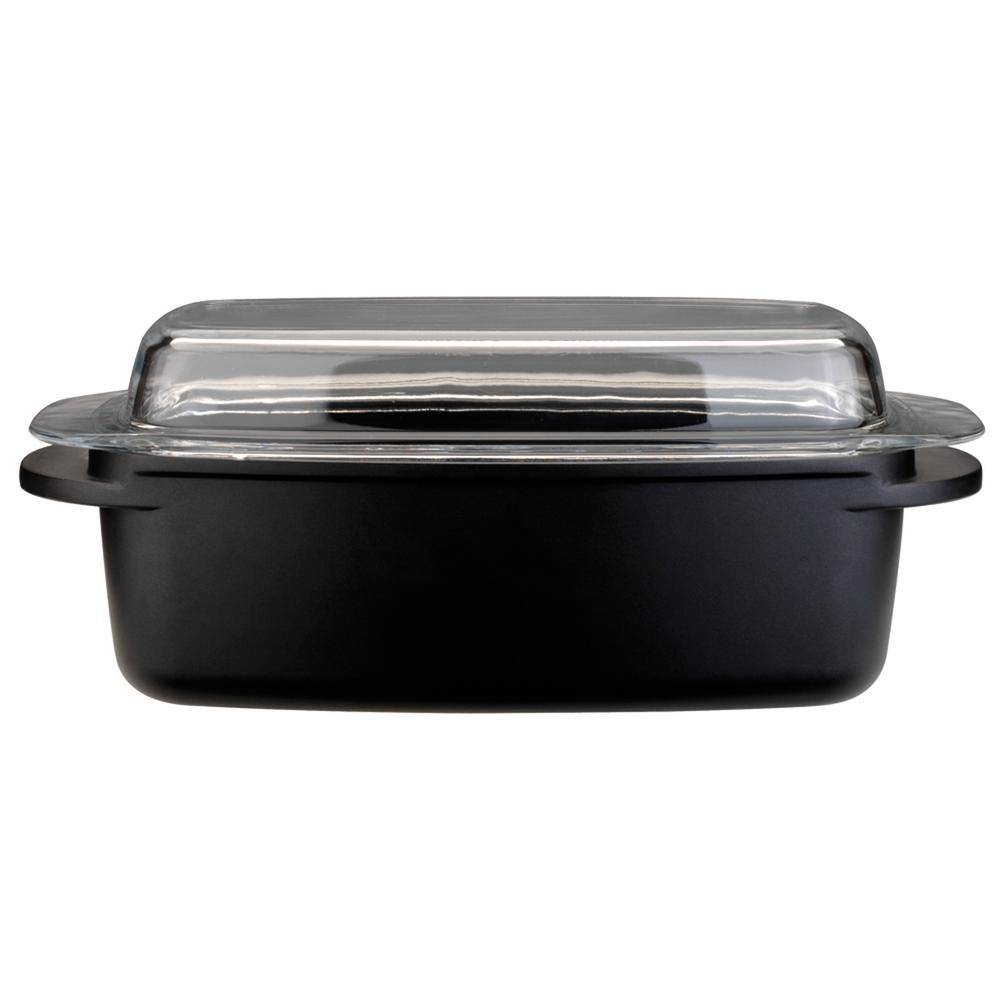 Cast Iron Roaster With Glass Lid
