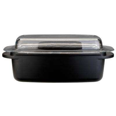 CooknCo 5.7 Qt. Cast Aluminum Roasting Pan with Lid
