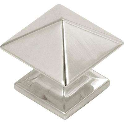 Studio 1-1/4 in. Bright Nickel Cabinet Knob