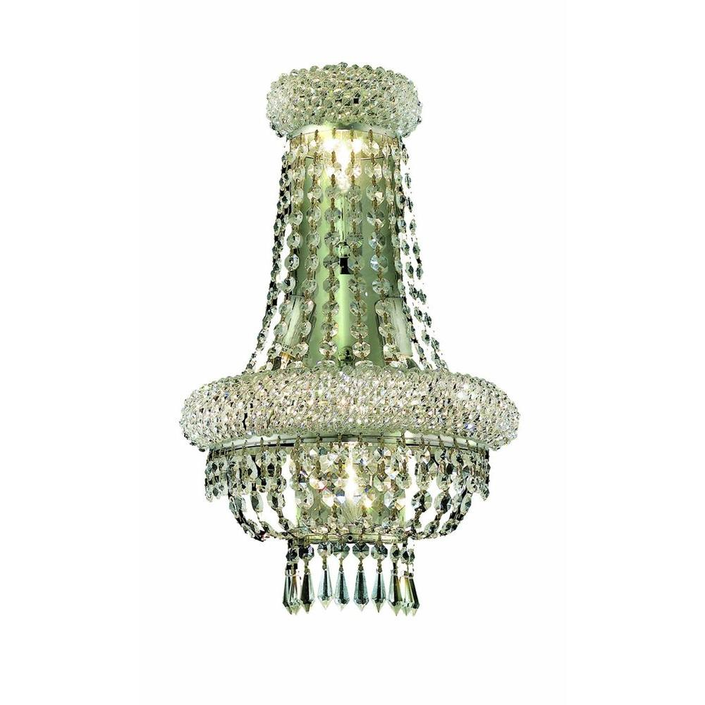 Elegant Lighting 4-Light Gold Wall Sconce with Clear Crystal