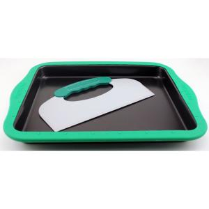 Click here to buy BergHOFF Perfect Slice Cookie Sheet with Silicone Sleeve and Slicing Tool by BergHOFF.