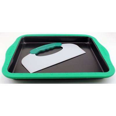 Perfect Slice Cookie Sheet with Silicone Sleeve and Slicing Tool