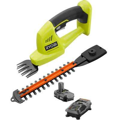Reconditioned ONE+ 18-Volt Lithium-Ion Cordless Grass Shear and Shrubber Trimmer - 1.3 Ah Battery and Charger Included