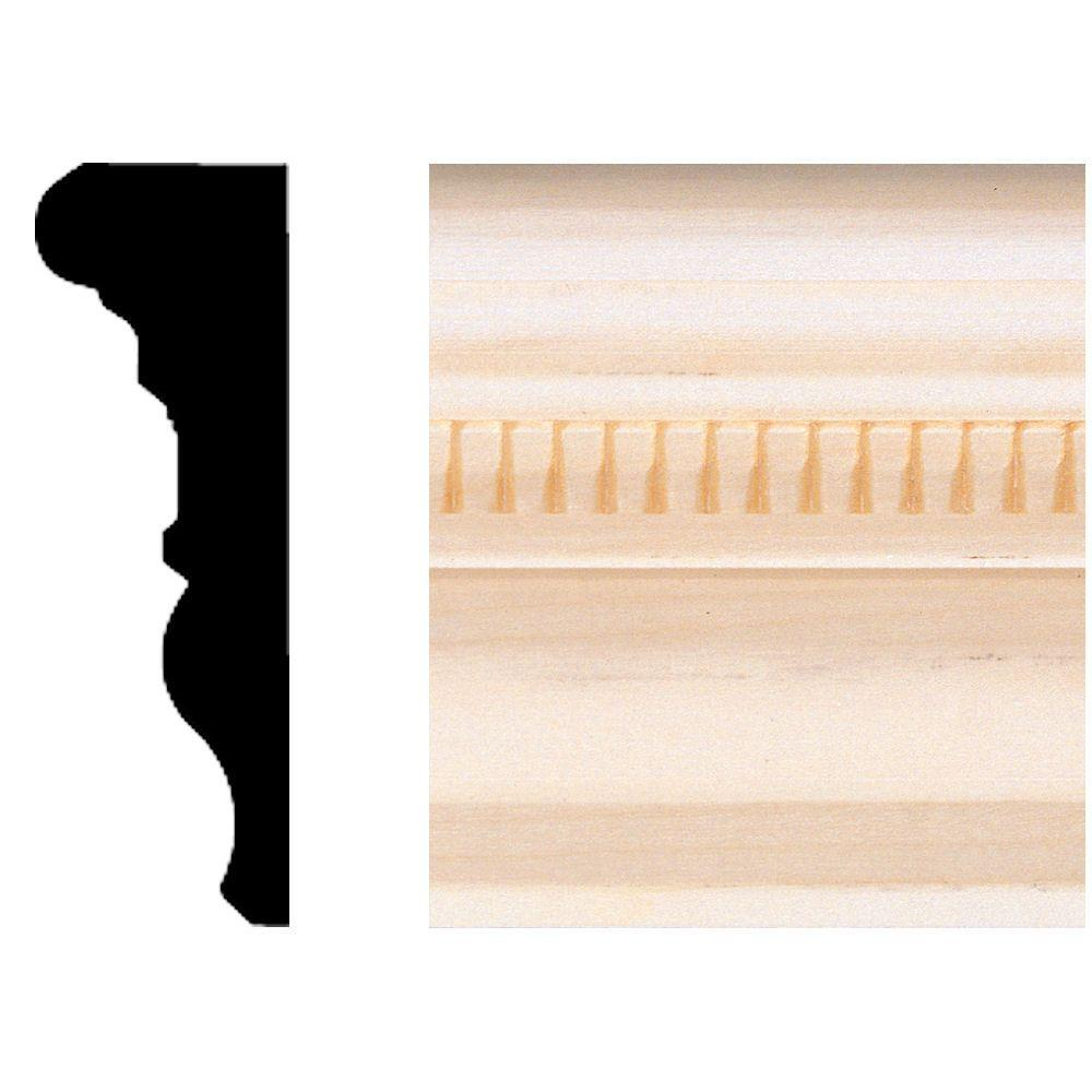 House of Fara 1 in. x 3 in. x 8 ft. Hardwood Emboss Casing/Chair Rail Moulding