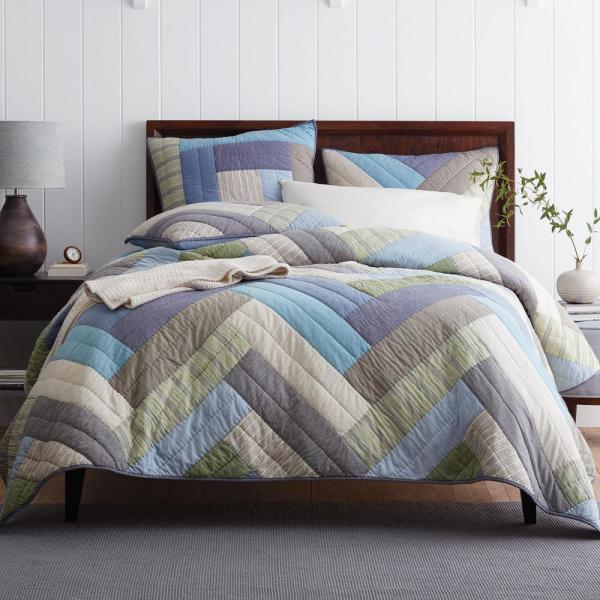 The Company Store Kittery Yarn Dyed Multi Cotton Twin Quilt 50303Q-T-MULTI