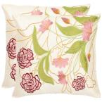 Pink Ruby Florals Pillow (2-Pack)