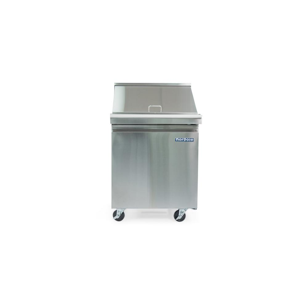 6 cu. ft. Single Door Mega Top Sandwich/Salad Prep Table in