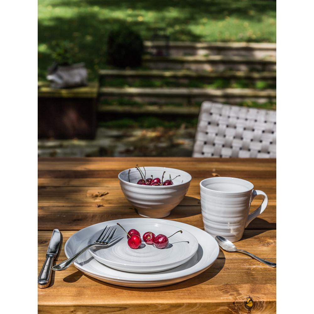 Over and Back Loop 16-Piece White Dinnerware Set-807741 - The Home Depot