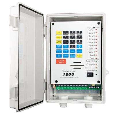 1800 Series 8 Channel Remote Monitoring System with Solid Door