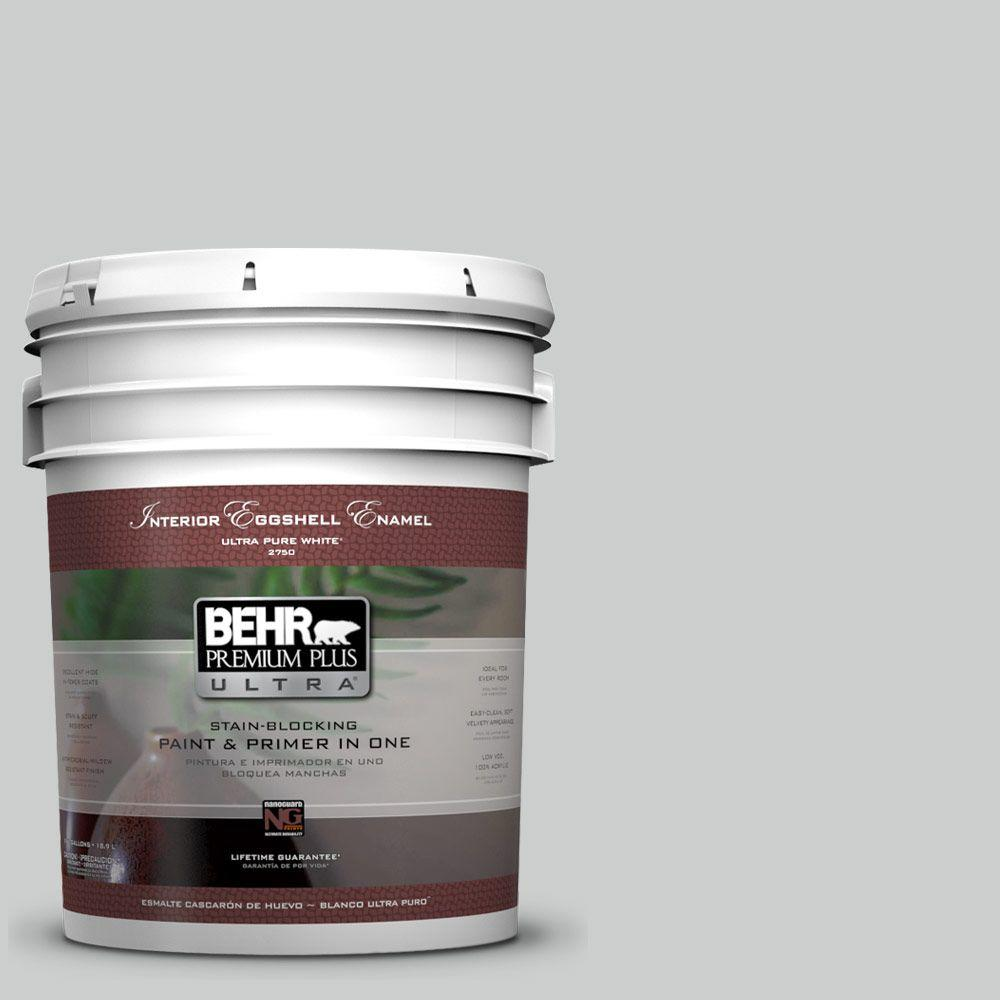 BEHR Premium Plus Ultra 5-gal. #N460-2 Planetary Silver Eggshell Enamel Interior Paint