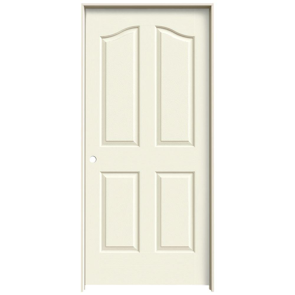 Jeld Wen 36 In X 80 In Provincial Vanilla Painted Right Hand Smooth Molded Composite Mdf