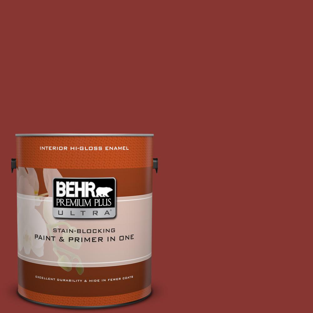 1 gal. #ECC-46-3 Red Hawk Hi-Gloss Enamel Interior Paint