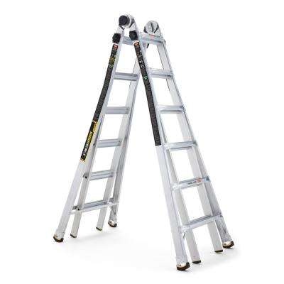 26 ft. MPX Aluminum Telescoping Multi-Position Ladder with 375 lb. Load Capacity Type IAA Duty Rating