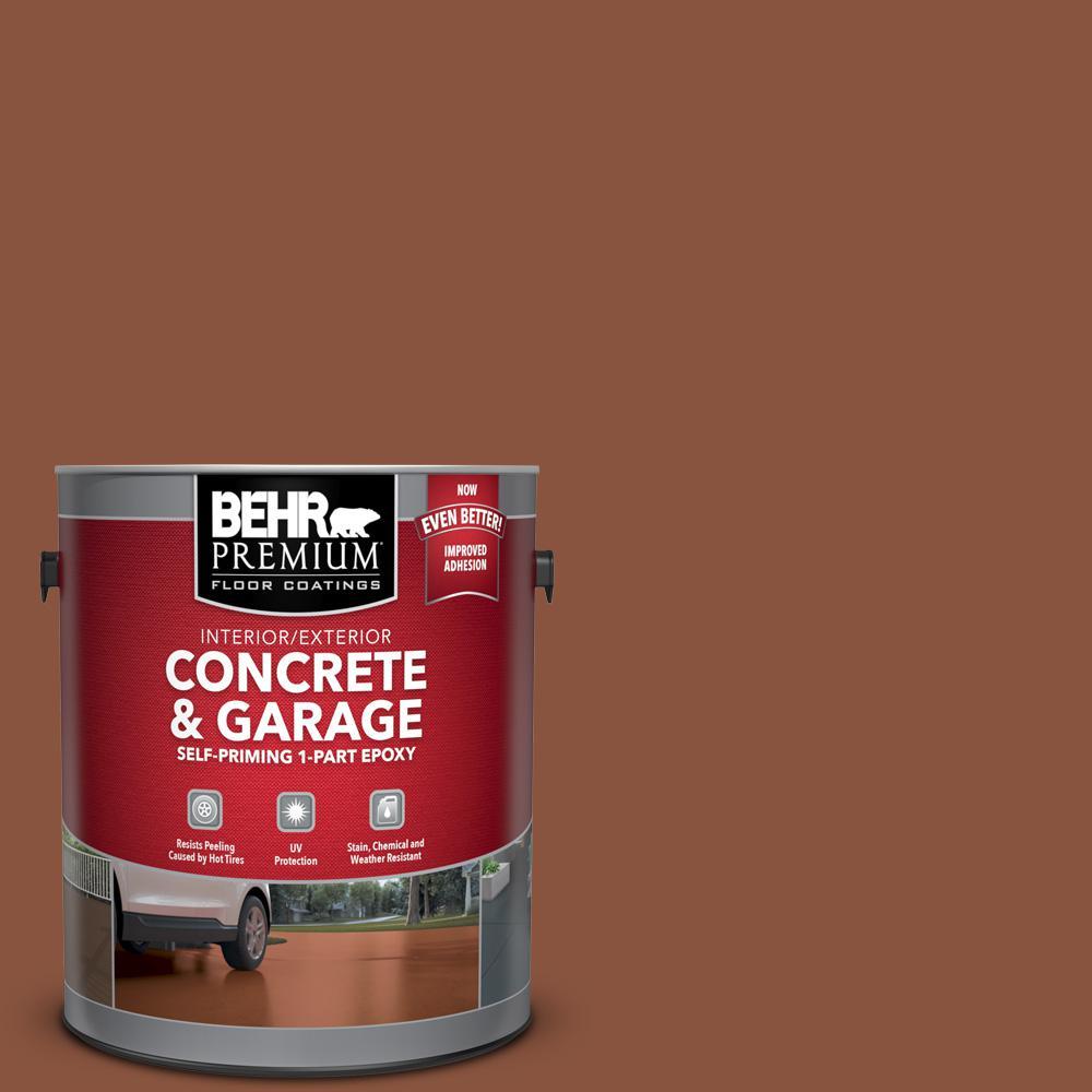 1 gal. #S180-7 True Copper Self-Priming 1-Part Epoxy Satin Interior/Exterior Concrete and Garage Floor Paint