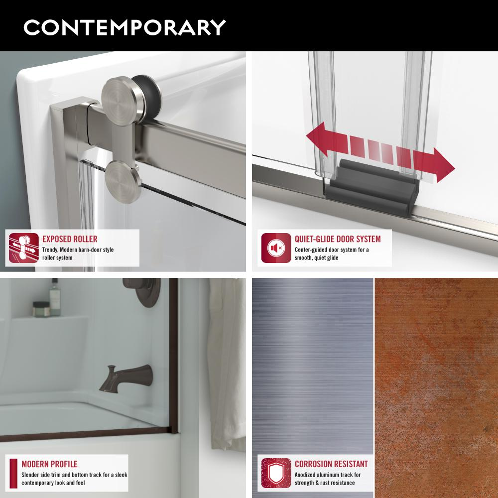 Delta 48 To 60 In Contemporary Sliding Shower Door Track Assembly Kit In Chrome Sdlcs60 C R The Home Depot