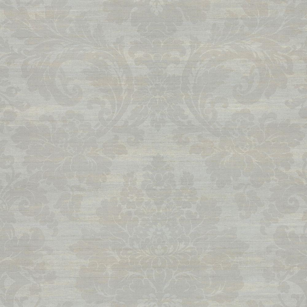 Brewster 8 in. W x 10 in. H Large Damask Wallpaper Sample