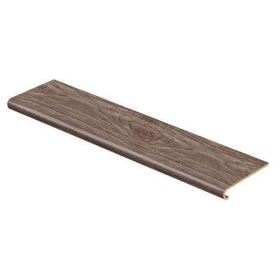 Cinder Oak 47 in. Length x 12-1/8 in. Deep x 1-11/16 in. Height Vinyl Overlay to Cover Stairs 1 in. Thick
