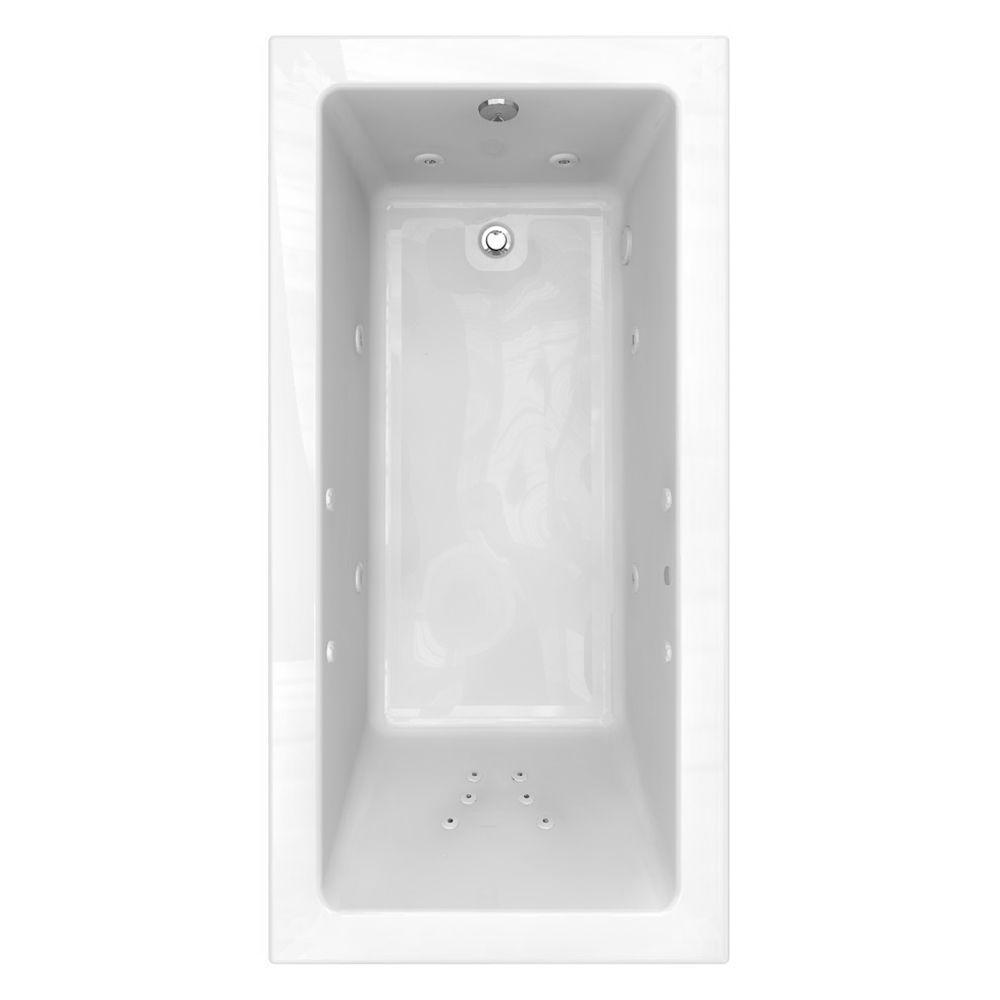 American Standard Studio EcoSilent 6 ft. x 36 in. Whirlpool Tub with Zero-Edge Profile in White