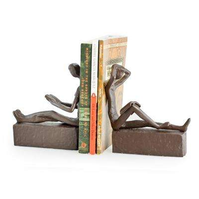 Man and Woman Reading Iron Bookends (Set of 2)