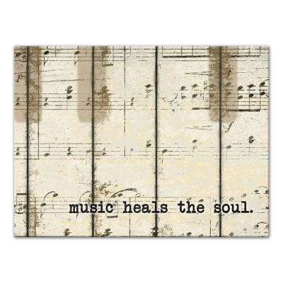 12 in. x 16 in. ''Piano Keys Music '' Printed Canvas Wall Art