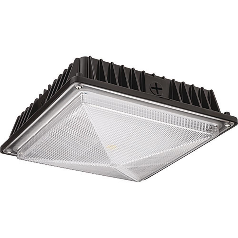 Bronze Outdoor Integrated LED Square Canopy Flushmount Light