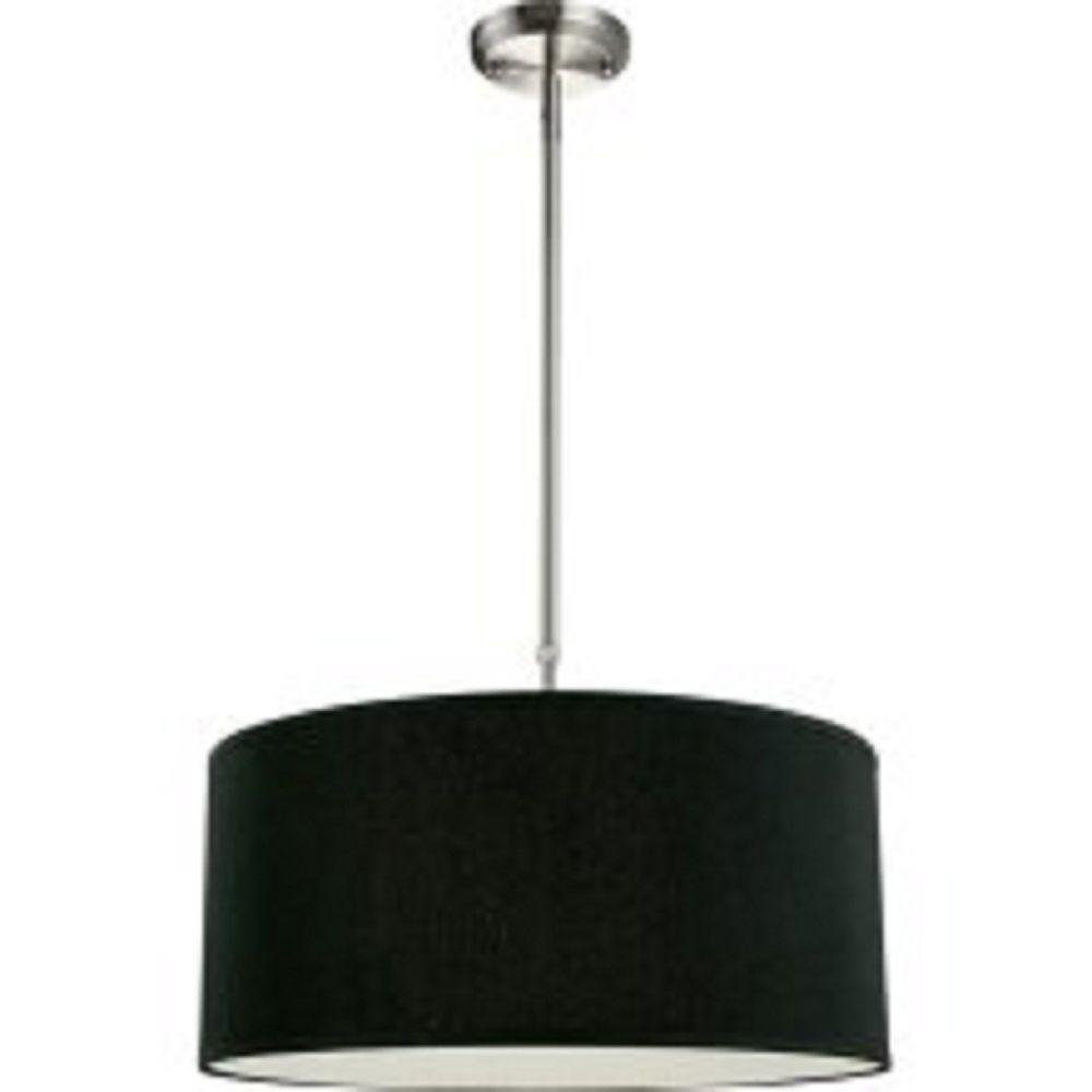 Lawrence 3-Light Brushed Nickel Incandescent Ceiling Pendant
