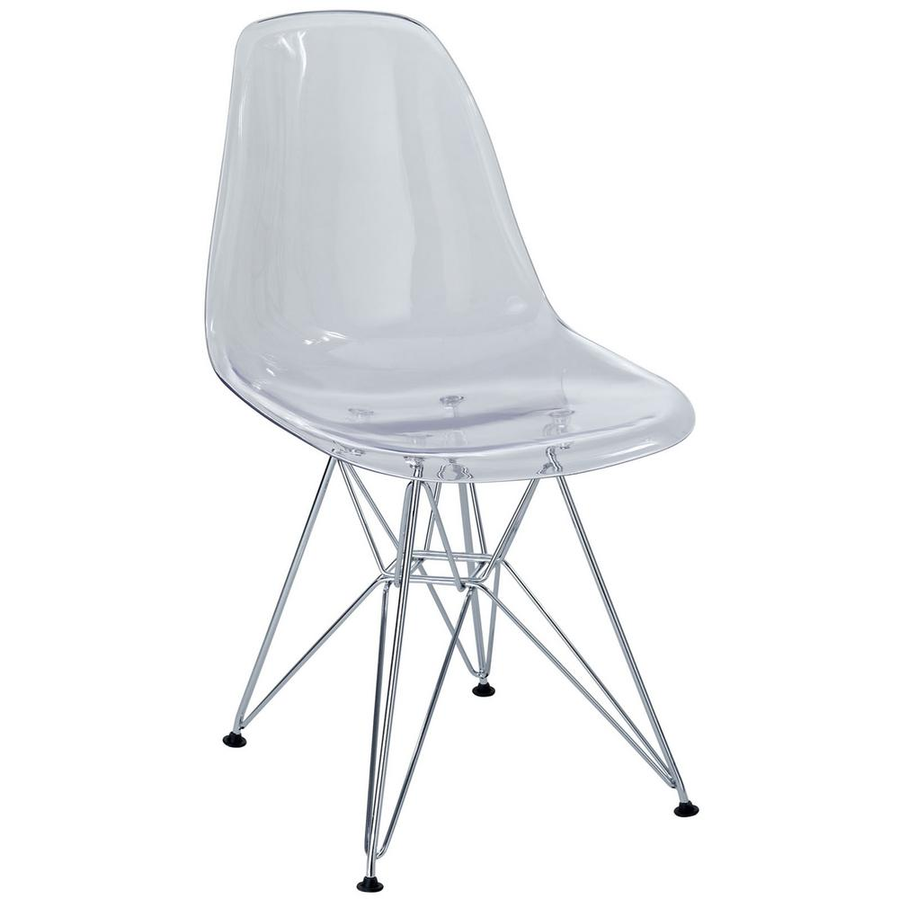 Modway Paris Clear Dining Side Chair