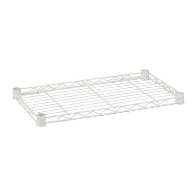 1 in. H x 36 in. W x 16 in. D 250 lb. Capacity Freestanding Steel Shelf in White
