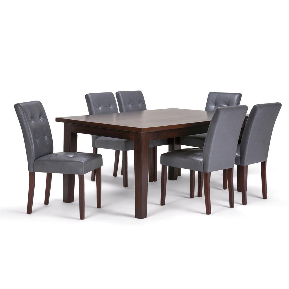 Andover 7-Piece Stone Grey Dining Set