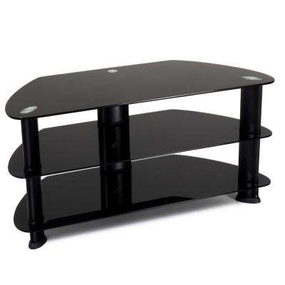 Laguna Satin Black TV Stand for TVs up to 50 in.