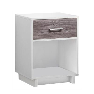 Smithfield Ivory and Rustic Medium Brown Nightstand