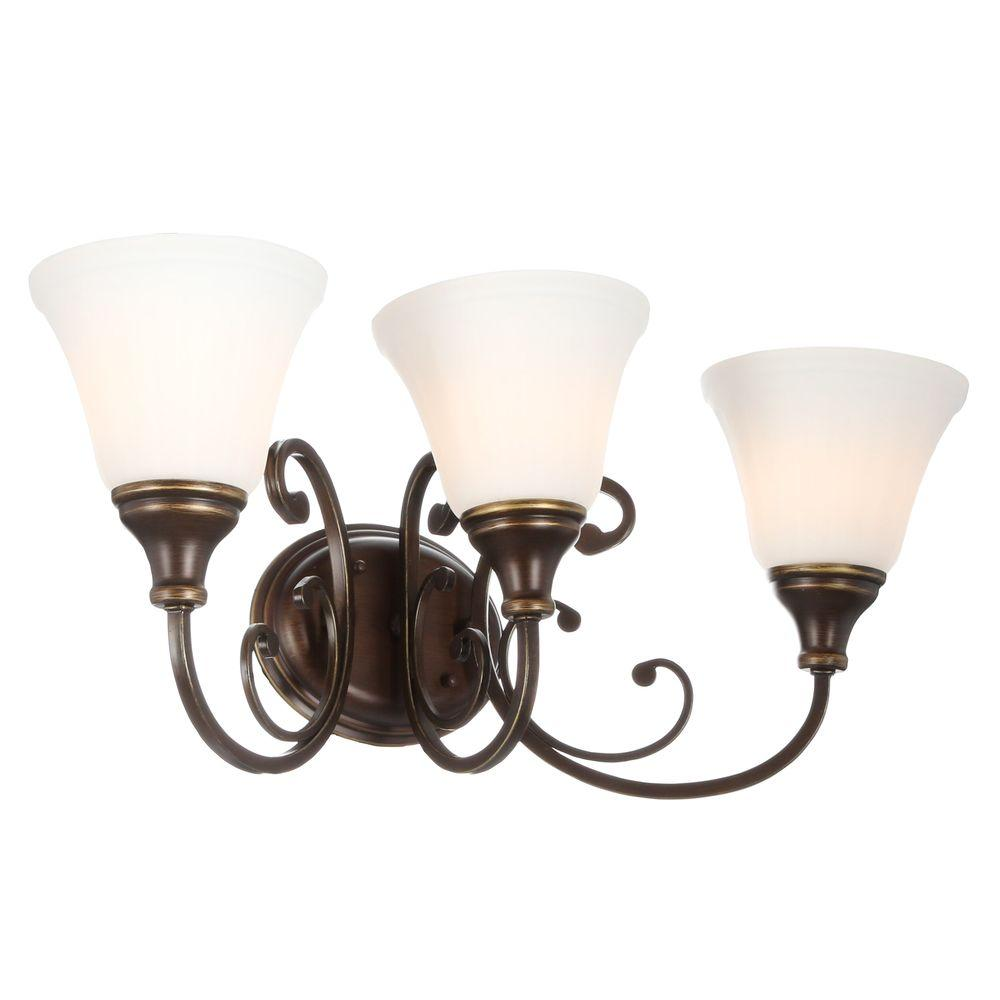 Hampton Bay Somerset 3-Light Bronze Vanity Light-GEX1393A - The Home Depot