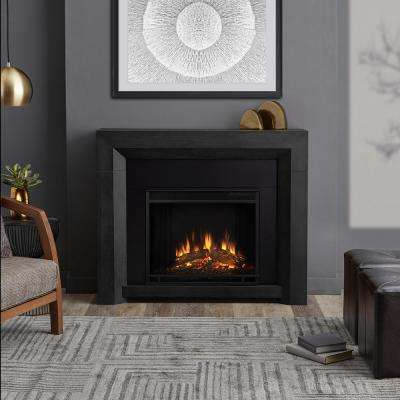 Hughes 42 in. Electric Fireplace in Gray
