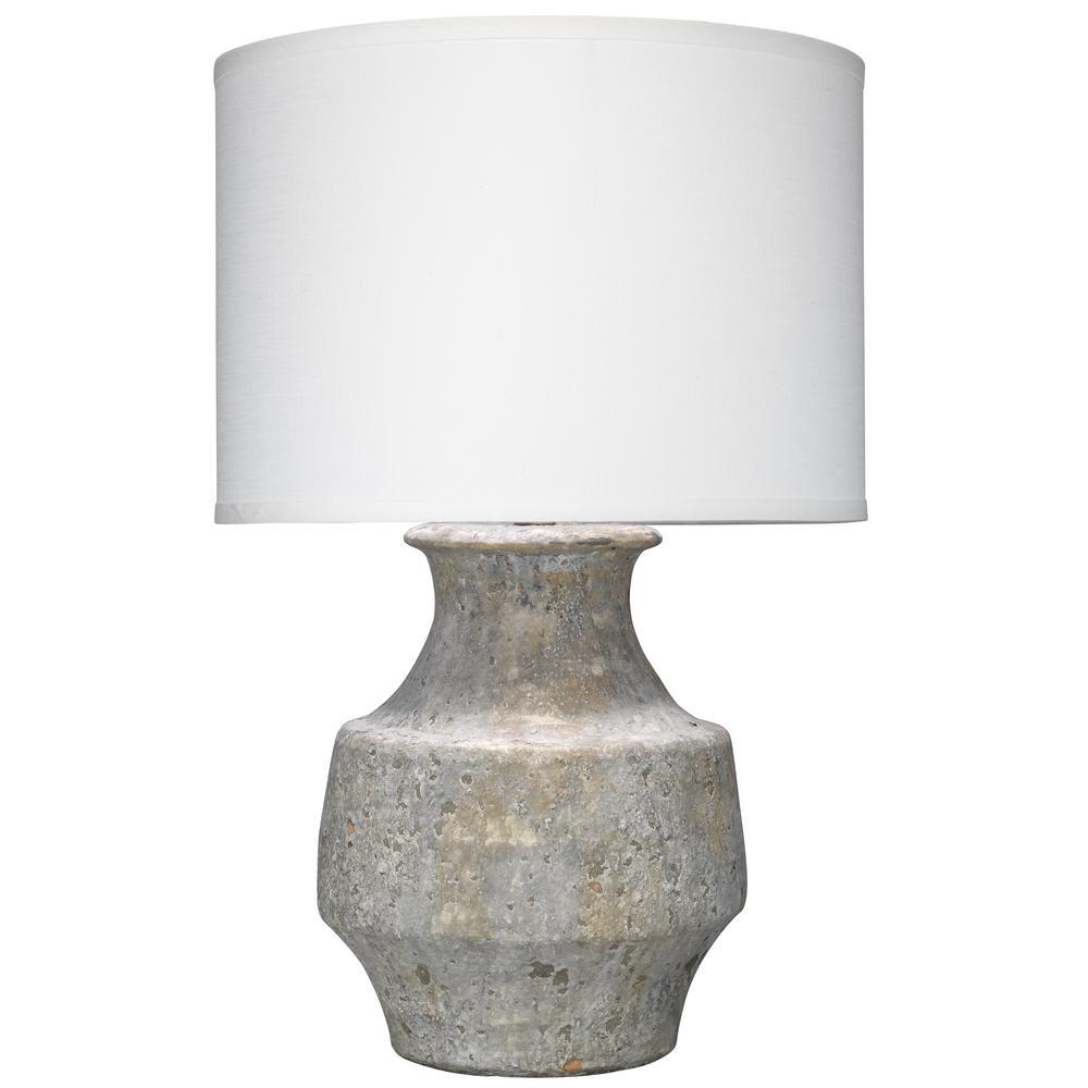 26 in. Grey Masonry Table Lamp with Shade