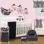 Black and White Dot Cotton Girly Foam Kid's Chair