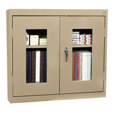 26 in. H x 30 in. W x 12 in. D Clear View Wall Cabinet in Tropic Sand