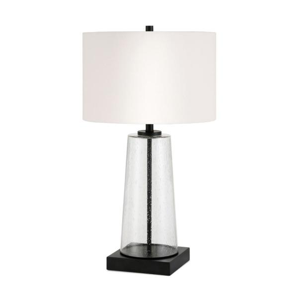 Dax 25-1/8 in. Tapered Seeded Glass Table Lamp