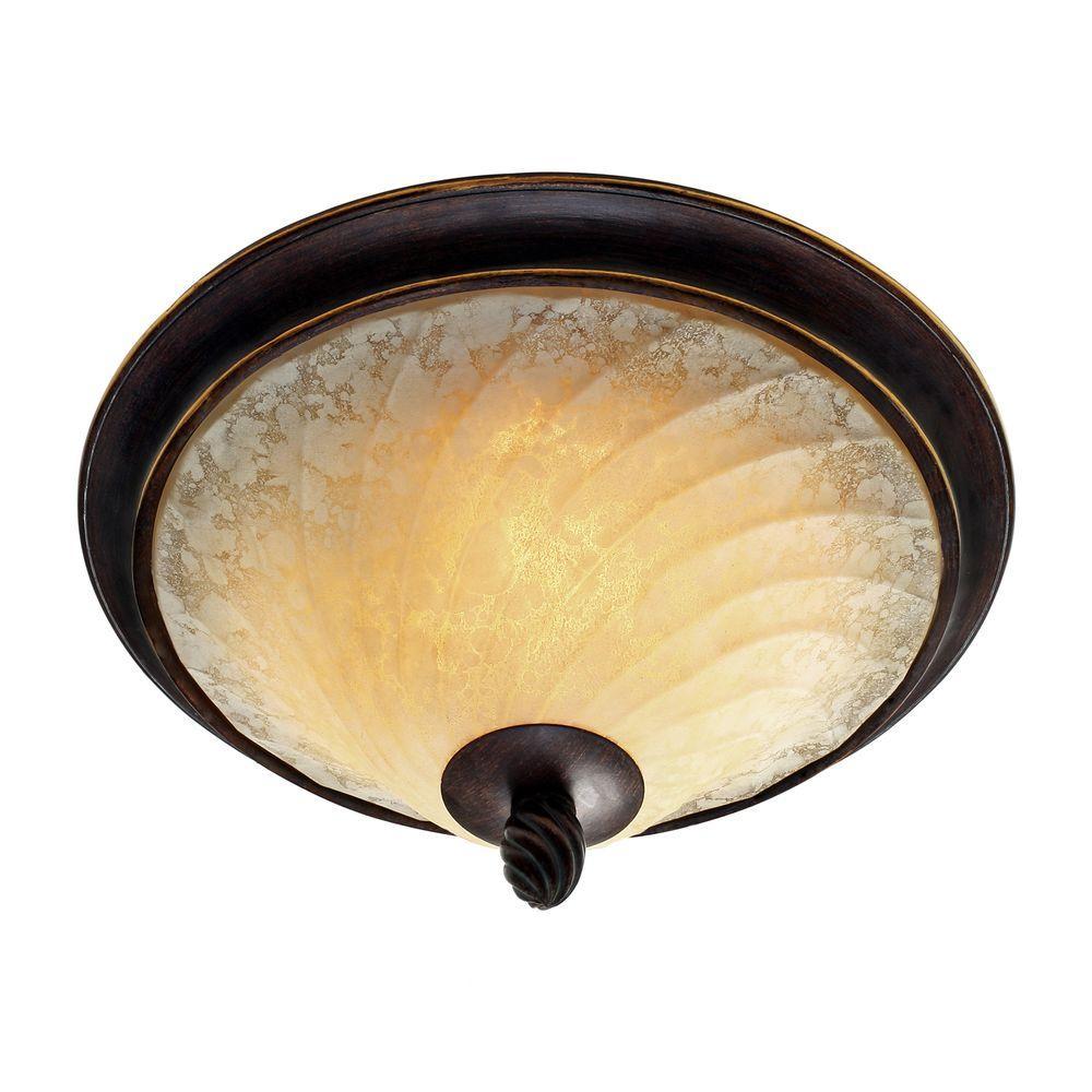 Torbellino Collection 2-Light Cordoban Bronze Flushmount