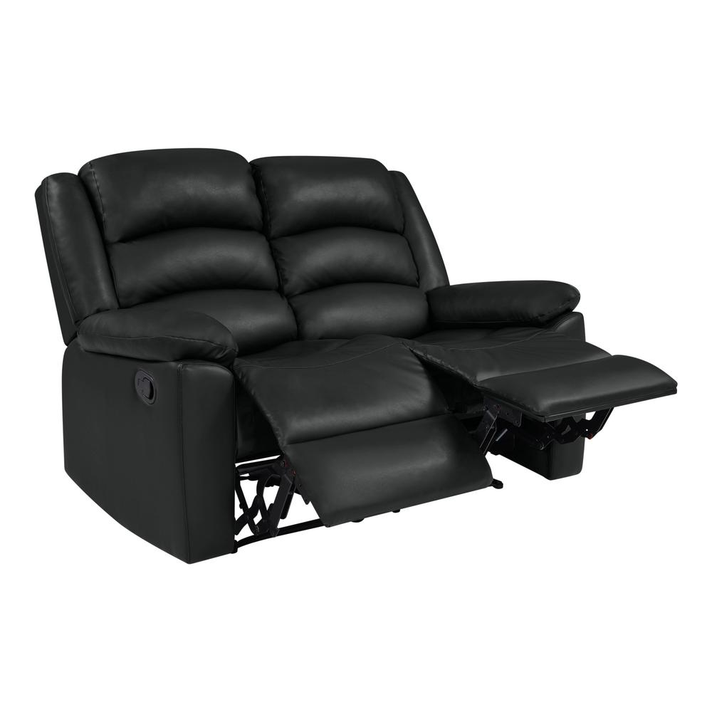 Prime Prolounger Black Tuff Stuff Polyurethane Fabric Loveseat 2 Caraccident5 Cool Chair Designs And Ideas Caraccident5Info