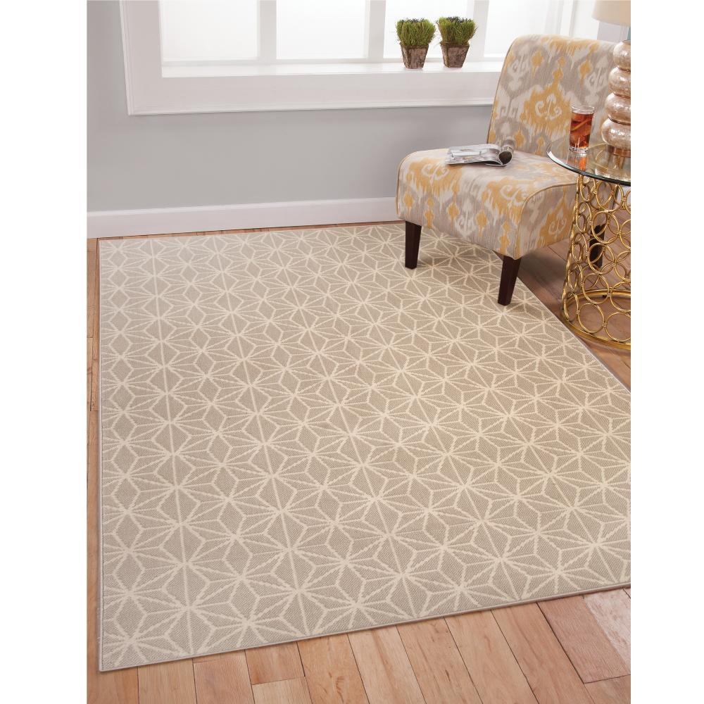 Sams international broadway stars beige 5 ft 3 in x 7 ft for International decor bath rugs