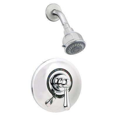 Allura Single-Handle 2-Spray Shower Faucet with VersaFlex Integral Diverter in Polished Chrome (Valve Included)