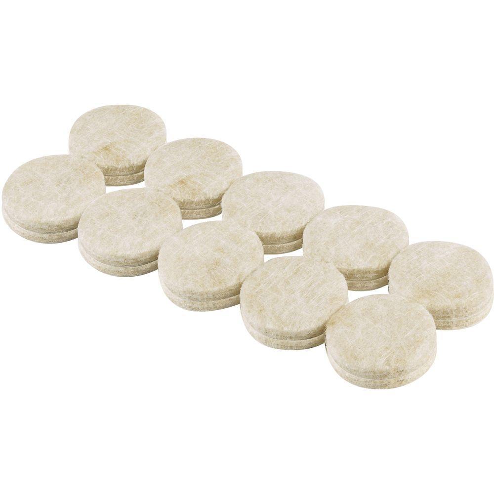 3/4 in. Heavy Duty Self-Adhesive Felt Pads (20 per Pack)